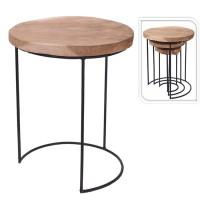 Masuta Idea din lemn si metal 38x47 cm