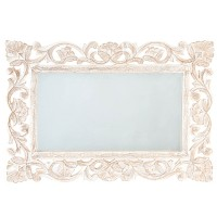 Oglinda Romance din lemn finisat manual 40x60 cm