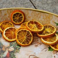 Potpourri cu 10 felii de portocala uscata