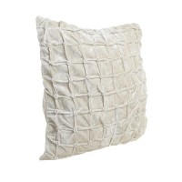 Perna Buttons din textil crem 45x45 cm