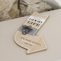 Placheta deco Good Life din lemn 21x32.5 cm