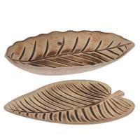 Platou deco Tropical Leaf din lemn aprox 32x28 cm - 2 modele