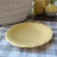 Platou Leaf din ceramica galbena 25.5 cm