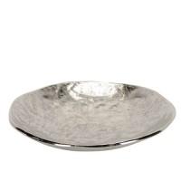 Platou Silver din metal 34x6 cm