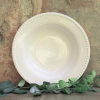 Salatiera Duchess din ceramica alba 28 cm