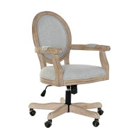 Scaun rotativ Finess din lemn gri 60x100 cm