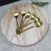 Set 6 lingurite Gold din metal 14 cm