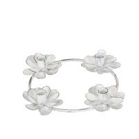 Sfesnic Flower din metal alb 18x4 cm
