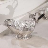 Sosiera Sheffield din cupru argintat 15.5x20.5x10 cm