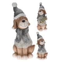 Statueta Winter Dog 23x61 cm - modele diverse