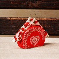 Suport din ceramica rosie pentru servetele 9 cm