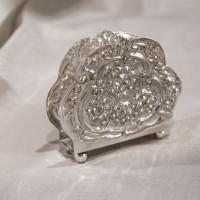 Suport pentru servetele Sheffield din cupru argintat 11x3.5 cm