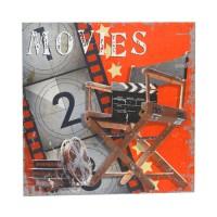 Tablou Movies 40x40 cm