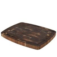 Tocator Tiles din lemn maro 46x36 cm