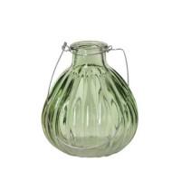 Vaza Daisy din sticla verde 8 cm