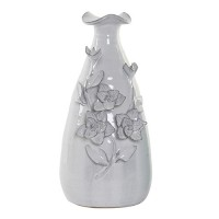 Vaza Flowers din ceramica alba 19x33 cm