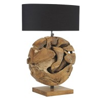 Veioza Twist din lemn 45x63x25 cm