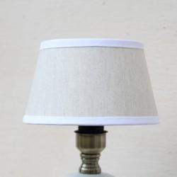 Abajur Finesse Grey din textil 20 cm