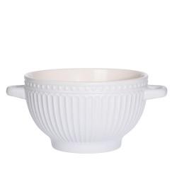 Bol Delicate din ceramica alba 14 cm