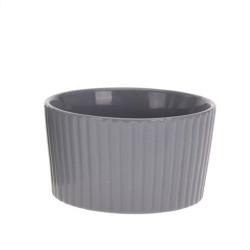 Bol Groove din ceramica gri 7 cm