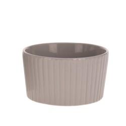 Bol Groove din ceramica maro 7 cm