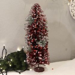 Brad Xmas cu bobite rosii 55 cm