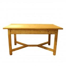 Masa Mathilde din lemn natur 152x98x77 cm