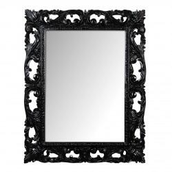 Oglinda dreptunghiulara din polirasina negru lucios