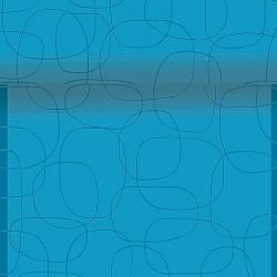 Napron decorativ din hartie albastra cu cercuri