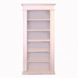 Biblioteca Grace din lemn alb 93x40x205 cm