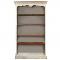 Biblioteca Tresor din lemn alb cu maro 120x42x207 cm