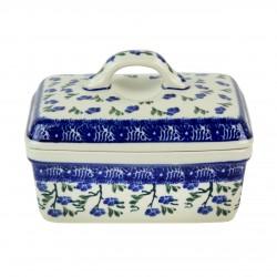 Untiera din ceramica crem cu crengute 15x10 cm