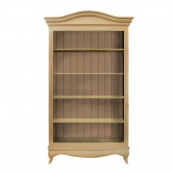 Biblioteca din lemn crem 205 cm
