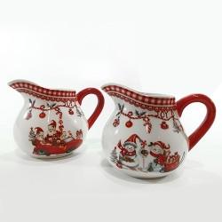 Cana din ceramica pentru lapte Christmas 9 cm - 2 cm
