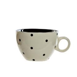 Cana Dots din ceramica crem 8 cm