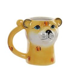Cana Leopard din ceramica 13.5 cm