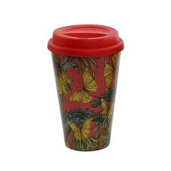 Cana Tropical Red din bambus 14 cm