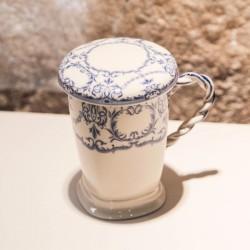 Cana cu filtru Provenza din ceramica 11 cm