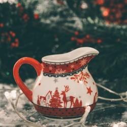 Cana pentru lapte Reindeer din ceramica 9 cm - 2 modele