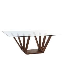 Consola Moderna din lemn si sticla 200x100x75 cm
