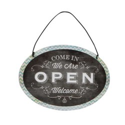 Decoratiune Open & Close din metal 15x11 cm