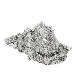 Decoratiune Scoica din polirasina argintie 15x11x9 cm