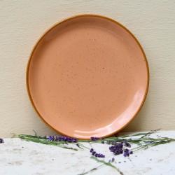 Farfurie intinsa Gardena din ceramica roz 24 cm
