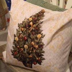Fata de perna Christmas Tree din bumbac 50x50 cm