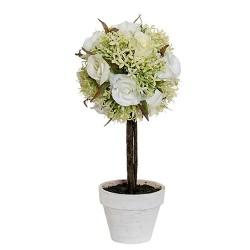 Floare decorativa alba in ghiveci 29 cm