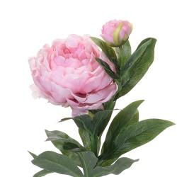 Floare decorativa Bujor roz 61 cm