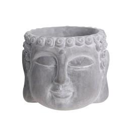 Ghiveci Buddha din ciment gri 11.5x12.5x10 cm