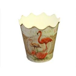 Ghiveci Flamingo din metal 20 cm
