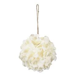 Glob Hortensia alb 18 cm