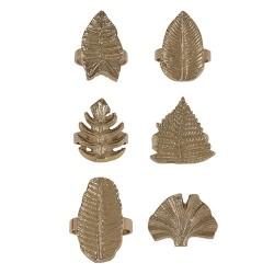 Inel pentru servetel Golden Leaf din metal - diverse modele